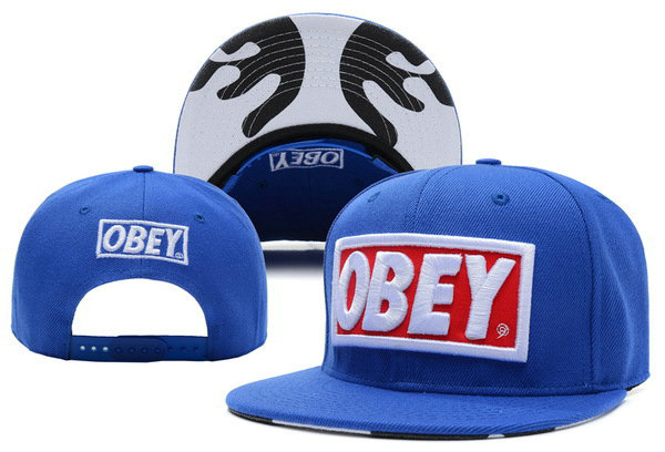 Obey Blue Snapbacks Hat XDF